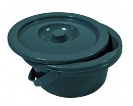Losse toiletemmer voor toiletstoel standaard