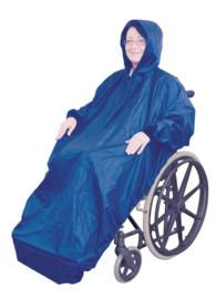 Regenjas gevoerd (geschikt voor scootmobiel)