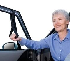 In- en uitstap verstelbare handgreep voor de auto