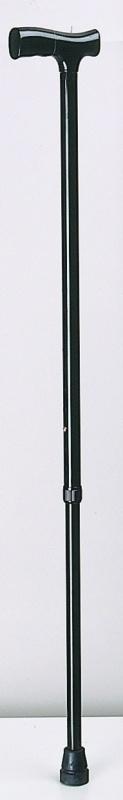 Aluminium wandelstok met houten handgreep
