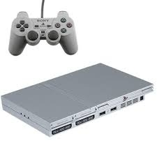 Sony Playstation 2 Silver Slimline PS2 - PStwo SCPH-77004 Pal