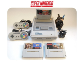 Super Nintendo Console 16 Bit SNES 2x controller Donkey Kong Country 1 2 3 pack