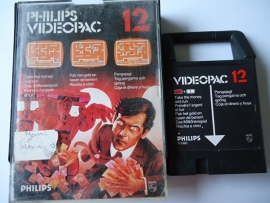 Philips Videopac 12 Take the money and run (O.1.1)