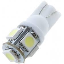T10 5 x 5050 SMD LED White 12V Autolamp xenon kleur stadslichten stadslicht