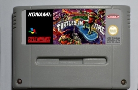 Teenage Mutant Ninja Turtles IV - Turtles in Time EUR Versie Engels Taal Repro - Super Nintendo / SNES / Super Nes spel (D.2.9)