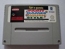 Fun 'n Games - Paint Games Music Style - Super Nintendo / SNES / Super Nes spel (D.2.6)