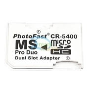 MEMORY CARD DUAL SLOT ADAPTER MICRO SD TF to MS PRO DUO psp (T1.1)