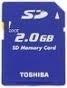Toshiba 2GB SD Memory Card