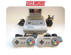 Super Nintendo Console 16 Bit SNES 2x controller Donkey Kong Country pack