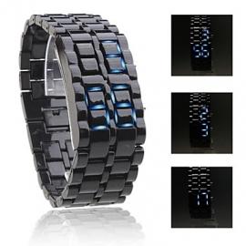 Lava Led Watch Samourai Blauwe Led steel