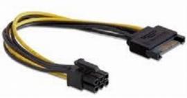 sata to 6 pin connector videokaart stroomkabel