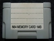 Nintendo 64 N64 - N64 Memory Card 1Mb model JT 391