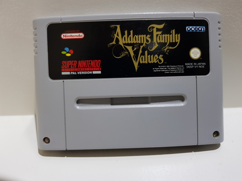 Addams Family Values - Super Nintendo / SNES / Super Nes spel 16Bit (D.2.8)