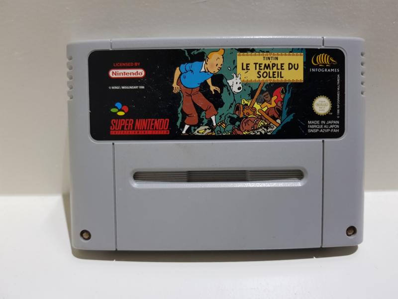 Tintin Le Temple du Soleil - Super Nintendo / SNES / Super Nes spel 16Bit (D.2.4)