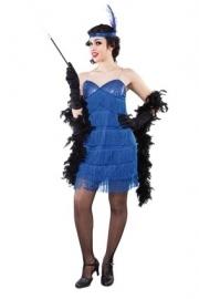 Blauw charleston jurkje