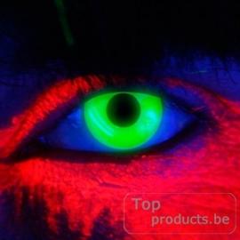 Party contactlenzen UV groen