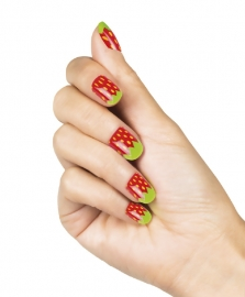Kunstnagelset Strawberry