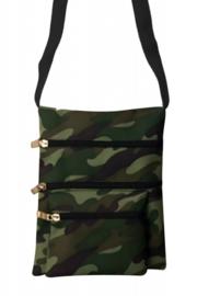 Schoudertasje leger camouflage