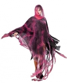 Magische heksen poncho rood