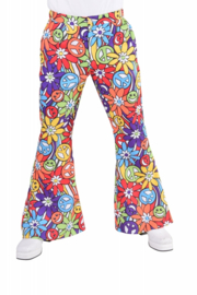 Disco broek happy smile heren