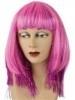 Roze Pruik met lametta glitter
