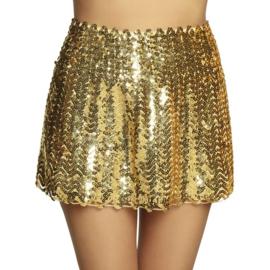 Sexy rokje pailletten goud