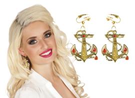 Navy oorbellen