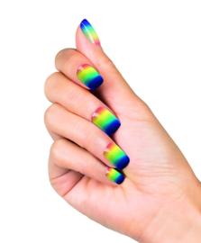 Kunstnagels regenboog