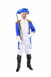 Garde officiers kostuum blauw