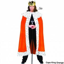 Lange Koningsmantel oranje