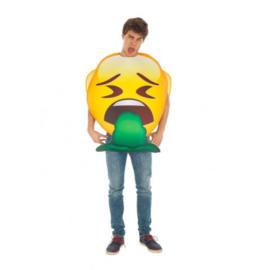 Spuug emoji kostuum
