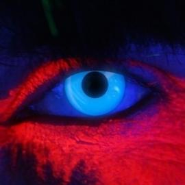 Party contactlenzen UV blauw