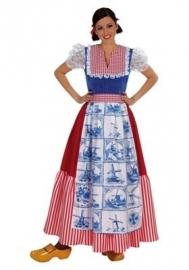 Boerinnen jurk delftsblauw