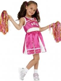 Cheerleader jurkje met 2 pompons