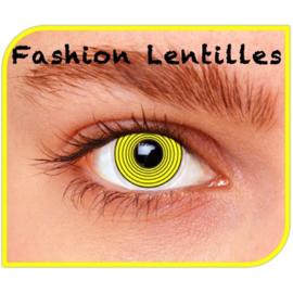 Party lens yellow hypno