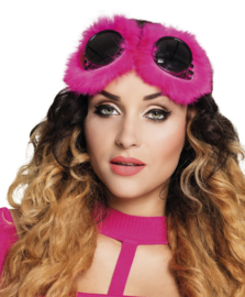 Pink fluffy skibril