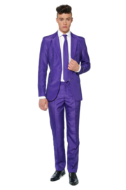 Solid purple suitmeister kostuum