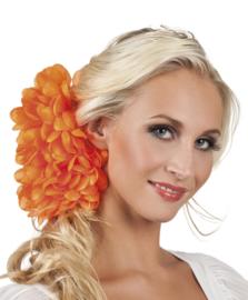 Haarbloem Dahlia oranje