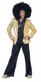 Gouden disco colbert pailletten