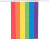 Papieren vlaggenlijn Regenboog   3 mtr