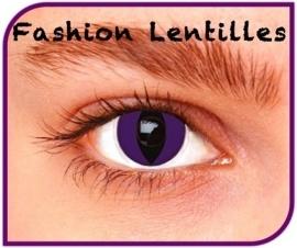 Party lenzen paarse katten ogen