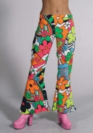 Hippie broek flower