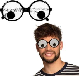 Partybril Dizzy Zwart/wit One-size