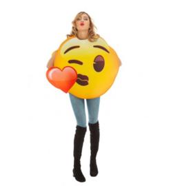 Kus hart emoji kostuum
