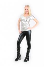 Disco t-shirt zilver