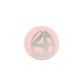 Button met mijter pink