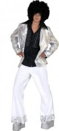 Zilveren disco Colbert Pailletten