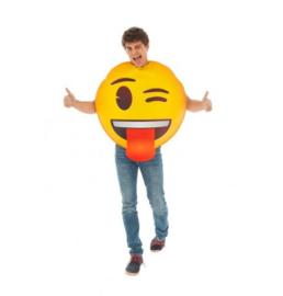 Knipoog emoji kostuum