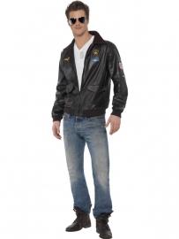 Zwarte Top Gun jas