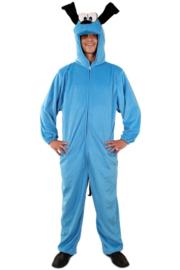 Blauwe hond kostuum